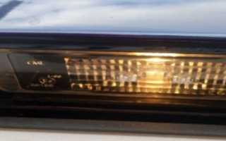 Замена лампочки подсветки номера рено логан