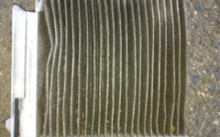 Замена салонного фильтра рено