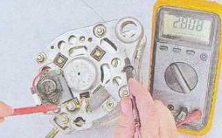 Как прозвонить генератор ваз 2107