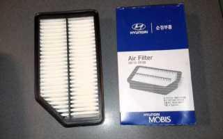 Замена воздушного фильтра хендай солярис