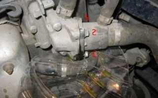 Замена термостата рено сандеро