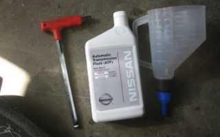 Замена масла акпп ниссан альмера g15