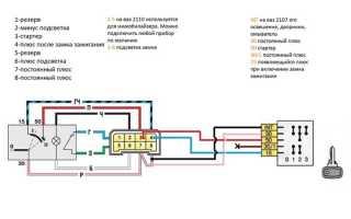 Ваз 2110 замена замка зажигания
