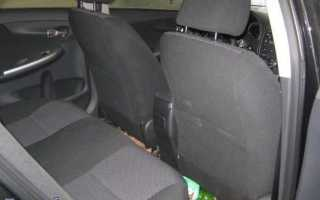Как снять заднее сиденье на тойота королла