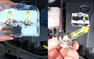 Замена лампочки ближнего света форд фокус 2